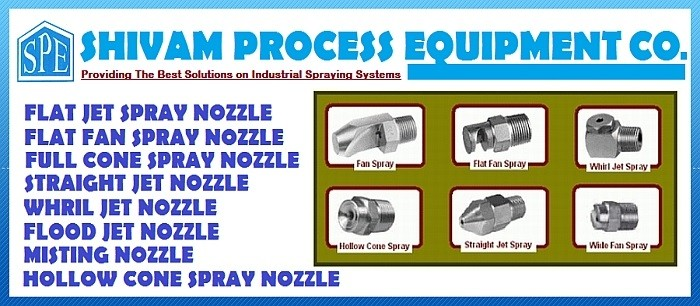 Manufacturer & Supplier of Industrial Spraying Nozzles in India and Abroad.